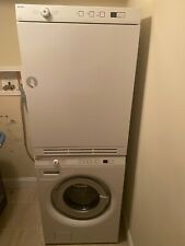 White Stackable Asko Washer (W6424) & Dryer (T754) Set