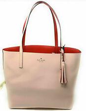 NWT Kate Spade Lakeland Marina Reversible Pink / Red Leather Tote WKRU5342 F