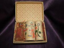 Vintage Old Spice Set Pin Trunk Box Cushion Talcum Powder Bath Salts