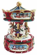 SPIELUHR Weihnachten Jingle Bell Karussell mit Pferden NEU OVP
