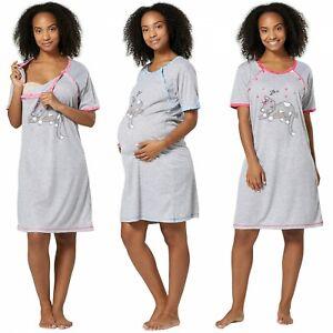 HAPPY MAMA Women's Maternity Hospital Gown Nightie Labour & Birth 1200