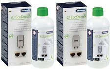 2 X 500ML Bottles Of DELONGHI Magnifica Espresso Coffee Maker Machine DESCALER