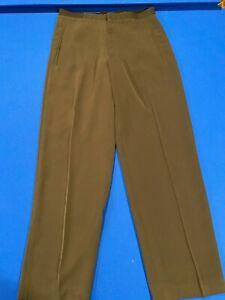 Emporio Armani Men's Dress Pants Sz 32 Black Stretch Waist No Belt EUC