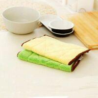 Kitchen Pad Scouring Resistance Dish Cloth Cleaning Dishcloth Rags Microfiber