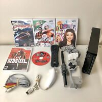 Nintendo Wii Console Bundle - Black with 5 Games