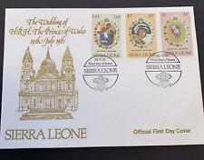 1981 Sierra Leone Royal Wedding HRH Prince Charles & Lady Diana FDC