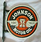 A+Johnson+Motor+Oil+Gas+Advertising+Cast+Iron+Flange+Sign+Advertising