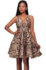 V-Neck Floral Sleeveless Dresses for Women