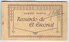 LOTE DE 6 POSTALES RECUERDO DE  EL ESCORIAL # 131