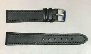 Pulsera Correa de Reloj Piel Legítima Cuero 18 mm Negro   Watchband 240