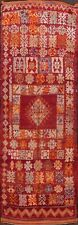 Tribal Semi Antique Moroccan geometric Oriental Runner Rug Wool Handmade 5'x14'