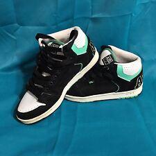 Vintage ADIO Skate Shoes Kingsley Size 7 Black Green White High Top Rare Sneaker