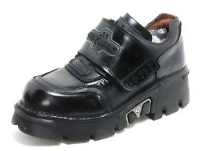 281 Herrenschuh Leder Plateau Boots 90er Stiefel Gothic New Rock Original 44