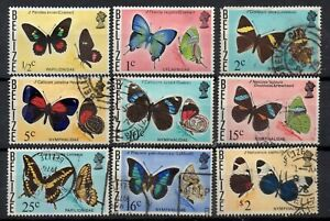 BELIZE STAMP 1974 DEFINITIVE BUTTERFLIES PART SET MOUNTED MINT USED
