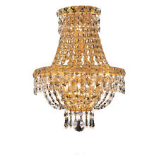 GOLD CEILING FIXTURE EMPIRE CRYSTAL WALL SCONCE DINING ROOM HALLWAY BATHROOM