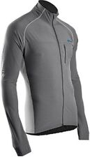 SUGOI RSR Jacket Mens Large Concrete Gray Run Ride Outdoor Reflective Repels