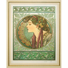 """""""LAUREL"""" by ALPHONSE MUCHA, Print Signed and Numbered"""