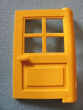 LEGO 3861 (x2) @@ Door 1 x 4 x 5 4 Panes - YELLOW 381 588 6363 6372 6552