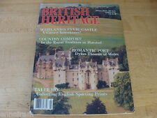 British Heritage Magazine Feb Mar 1988 Fyvie Castle Dylan Thomas Sporting Prints