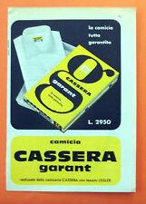 B846-Advertising Pubblicità-1959 - CASSERA CAMICIA GARANT