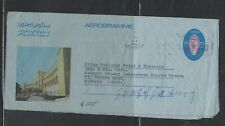 KUWAIT COVER (P2502B) 1976 SHEIKH 25F AEROGRAM, BUILDING #2 TO  CHINA