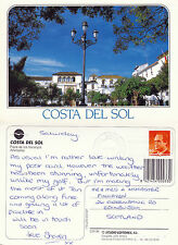 1995 PLAZA DE LOS NARANJOS MARBELLA COSTA DEL SOL SPAIN COLOUR POSTCARD
