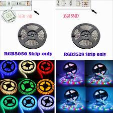 5M 3528 5050 RGB 300 SMD Flexible LED Strip Light Remote Power Supply Waterproof