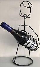 Moderno Metallo nero grigio uomo non associate bottig. VINO supporto Vino-Rack DRINK