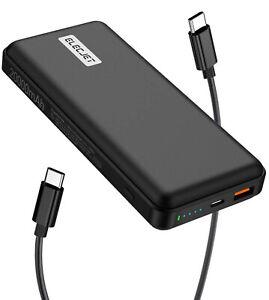 45W USB C Power Bank ELECJET PowerPie 20000mAh Charger Battery Portable Laptop