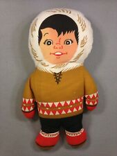 VINTAGE 1964 ESKIMO PIE Mascot BOY Pillow Cloth Advertising Mail Order Doll