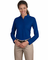 Port Authority Ladies 5 Oz Long Sleeve Silk Touch Flat Collar Polo Shirt. L500LS
