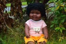 "LARGE 18"" ISHAQ BABY BOYS DOLL BLACK AFRO AFRICAN PREMIUM QUALITY VINYL 48CM"