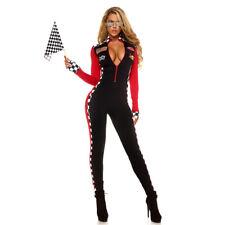 Sexy Race Car Driver Costume Racing Girl Jumpsuit Uniform