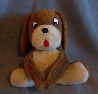 "Brown Plush Dog Hug Hook and Loop Paws Love Stuffed Animal 11 "" Vintage Hugging"