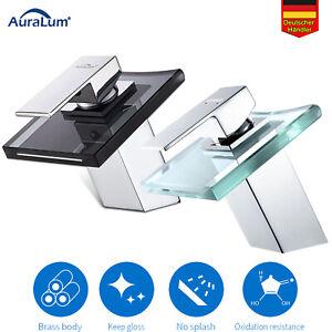 Glas Bad Waschtischarmatur Waschbecken Wasserhahn Badarmatur Mischbatterie DE