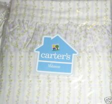 Carter's Cute Calico VALANCE purple lilac flowers ruffle white butterflies NEW