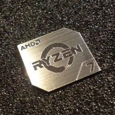 AMD RYZEN 7 CPU PC Logo Label Decal Case Sticker Badge SILVER [428b]