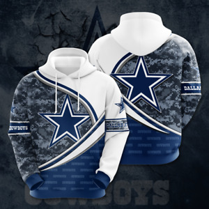 Dallas Cowboys Hoodie Form Camo 3D All Over Print, DC Football Pullover Hoodie