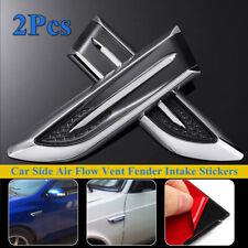 2pcs Chrome Universal Car Air Flow Intake Fender Side Hood Vent Decor Stickers Fits Chrysler 300
