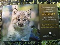 2010 Canada Specimen Lynx Set Special Edition Wild Life Series Rare Set.