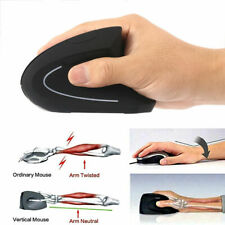 2.4G Wireless Vertical Mouse Mice Ergonomic 800/1200/1600DPI For Macbook PC