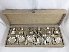 Saart Sterling 18pc Boxed Individual Salt Cellar & Shaker Set for 6