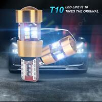 New Arrival One Pair Car LED Light T10 Decoding Function 6000K White 2688LM