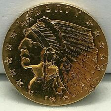 1910 $2.50 Dollar United States Indian Head Quarter Eagle Gold Coin 2.1/2  C#20