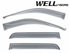 WellVisors For 14-Up Chevy Silverado GMC Sierra CREW CAB Side Window Rain Visors