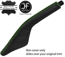 GREEN STITCH CARBON FIBER VINYL HANDBRAKE BOOT FOR PORSCHE 924 944 968 75-95
