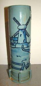Weller Art Pottery Rhead Faience Tube Lined Windmill Vase As-Is