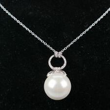 Rhodium Pearl Costume Necklaces & Pendants