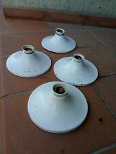 4 LAMPADE METALLO SMALTATO ANNI '50 DESIGN INDUSTRIALE STILNOVO Angelo Lelli