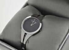 Calvin Klein Ladies 'Addict' Watch Stainless Steel Strap / Black Dial - K7W2S111